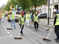 Vaisakhi 2014 Volunteers sweeping the street as parade approaches